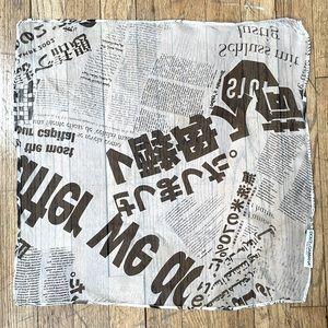 Dolce & Gabbana   Newsprint Silk Scarf